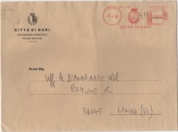 Tematica Comuni D'Italia: Affrancatura Meccanica Rossa Città Di Bari Su Grande Busta 07.04.1998 - Machine Stamps (ATM)