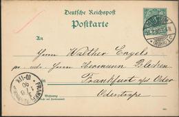 Ganzsache Mülheim Ruhr Mach Frankfurt Oder              [18/0072] - Germania