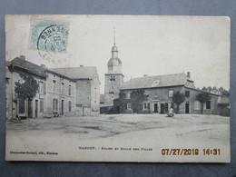 CPA 08  Les Ardennes MARGUT L'église ( Avec L'ancien Clocher Détruit Pendant La Guerre 14-18) Et L'école Des Filles 1906 - Francia
