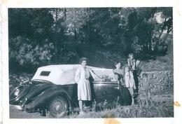 Photo Originale Vieille Voiture Décapotable - Automobili
