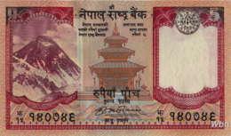 Nepal 5 Rupee (P60) Sign 17 -UNC- - Népal