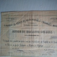 GALVESTON, HOUSTON & HENDERSON R.R. CO. COMPAGNIE DU CHEMIN DE FER- UNITED STATES OF AMERICA. - Ferrocarril & Tranvías