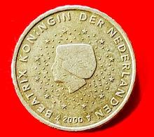 PAESI BASSI - OLANDA - 2000 - Moneta - Effigie Della Regina Beatrice, Volta A Sinistra - Euro - 0.10 - Paesi Bassi
