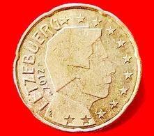 LUSSEMBURGO - 2012 - Moneta - Ritratto Del Sovrano Del Lussemburgo, Il Granduca Henri - Euro - 0.20 - Lussemburgo