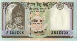 Nepal 10 Rupee (P31b) 1987 Sign 14 -UNC- - Népal