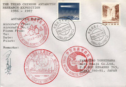 CHINA. Antarctic Flight/Vol Polaire. December 1986. Ice Camp Base,Collins Glacier. Only ONE Cover Available ! - Polar Flights