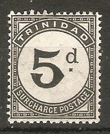TRINIDAD AND TOBAGO 1944 5d POSTAGE DUE SG D22 VERY LIGHTLY MOUNTED MINT Cat £40 - Trinidad & Tobago (...-1961)