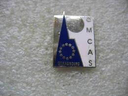 Pin's C.M.C.A.S à Strasbourg: Production, Fournisseur D'électricité (Caisse Mutuelle Complémentaire Action Sociale) - EDF GDF
