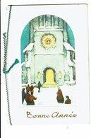 CPA - Carte Postale Double - Belgique - Bonne Année  Des Gens Entrant Dans Une église  VM4988 - Nieuwjaar