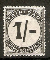 TRINIDAD AND TOBAGO 1945 1s POSTAGE DUE SG D25 VERY LIGHTLY MOUNTED MINT Cat £85 - Trinidad & Tobago (...-1961)