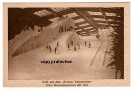 Berlin, Berliner Messe 1927, Schneepalast, Erste Kunstschneebahn Der Welt, Kaiserdamm, Alte Postkarte 1927 - Charlottenburg