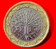 FRANCIA - 2001 - Moneta - Albero - Motto Repubblicano 'liberté, égalité, Fraternité' - Euro - 1.00 - Francia