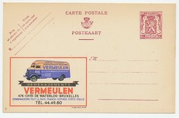 Publibel - Postal Stationery Belgium 1946 Moving Truck - Citroen - - Camions