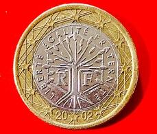 FRANCIA - 2002 - Moneta - Albero - Motto Repubblicano 'liberté, égalité, Fraternité' - Euro - 1.00 - Francia