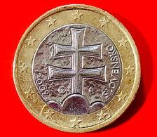 SLOVACCHIA - 2009 - Moneta - Croce Patriarcale Sulle Tre Cime Dei Monti Carpazi - Euro - 1.00 - Slovacchia