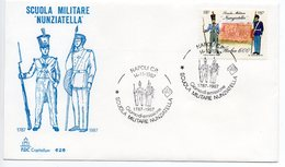 """1987 - FDC """" SCUOLA MILITARE NUNZIATELLA """" CAPITOLIUM VEDI++++ - 1946-.. République"""