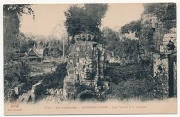 CPA - CAMBODGE - ANGKOR-THOM - Les Tours à 4 Visages - Cambodge