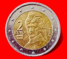 AUSTRIA - 2002 - Moneta - Bertha Von Suttner, Pacifista - Ritratto - Euro - 2.00 - Austria