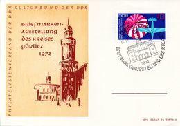 "(DDR-B1) DDR Sonderpostkarte ""BM-Ausstellung Des Kreises Görlitz 1972"" EF Mi 1754, SSt.18.11.72 GÖRLITZ - [6] République Démocratique"
