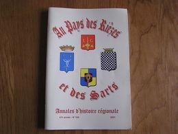 AU PAYS DES RIEZES & DES SARTS N° 164 Régionalisme Constant Le Boucher Lutte Sport Florennes Brasserie Delmarche Rocroi - Belgique