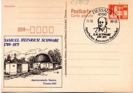"""(FC-7) Amtliche Ganzsachen M.priv.Zudruck """"Alexanderplatz"""",25Pf. Orange"""" P87/ C9, SSt 25.10.89 DESSAU 1 - Postkarten - Gebraucht"""