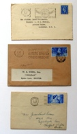 Great Britain Three Postal Covers KGVI Letters 1946, 1945, 1948 - 1902-1951 (Reyes)
