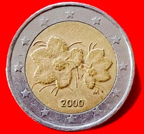FINLANDIA - 2000 - Moneta - Bacca Del Lampone Artico Rubus Camemorus, Con I Suoi Fiori - Euro - 2.00 - Finlandia