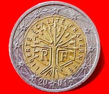FRANCIA - 2001 - Moneta - Albero - Motto Repubblicano 'liberté, égalité, Fraternité' - Euro - 2.00 - Francia