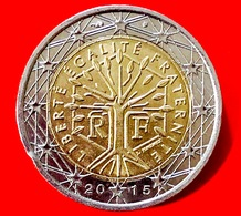 FRANCIA - 2015 - Moneta - Albero - Motto Repubblicano 'liberté, égalité, Fraternité' - Euro - 2.00 - Francia