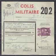 Fragment Met Stempel Oreye B Colis Militaire - Bahnwesen