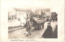 FR80  Carte Photo QUEND - Carnaval * Char Des Pêcheurs à La Ligne - Animée - Belle - Folklore
