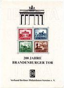 """(BRD-B2) BRD Sonder-Faksimile-Block Anl. Der Int. BM-Ausstellung """"IBRA"""", München 1973 - Vignetten (Erinnophilie)"""