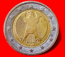 GERMANIA - 2014 - Moneta - Rappresenta Un'aquila, Simbolo Della Sovranità Tedesca - (Karlsruhe) - Euro - 2.00 - Germania