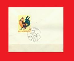 BEL '69, COB 1513, FDcancel Pigeon / Ghent Cropper / Boulant Gantois / Genter Kröpfer On Cover - Pigeons & Columbiformes