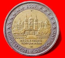GERMANIA - 2007 - Moneta - Land Di Mecklenburg-Vorpommern - Castello Di Schwerin - Euro - 2.00 - Germany