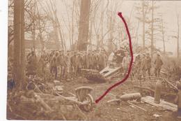Geschütz Batterie Canon Allemand   Carte Photo Allemande   1 WK 1 ° Guerre - War 1914-18