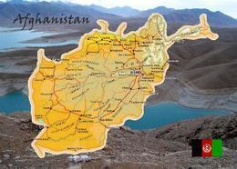 Afghanistan Country Map New Postcard Landkarte AK - Afghanistan