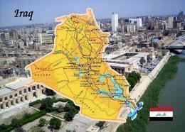 Iraq Country Map New Postcard Irak Landkarte AK - Irak
