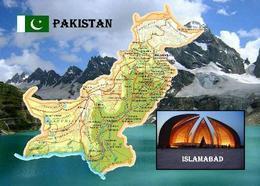 Pakistan Country Map New Postcard Landkarte AK - Pakistan