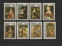 Paraguay 1966 Paintings Titian - Tiziano, Rubens Etc. Set Of 8 MNH - Art