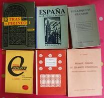 Lot De 6 Livres Scolaires Ou Autres En Espagnol. Espana. Espagne. Entre 1943 Et 1966 - Autres