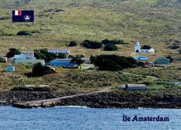 Amsterdam Island Martin-de-Viviès Base View TAAF New Postcard - TAAF : Territori Francesi Meridionali