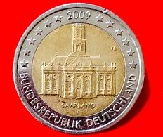 GERMANIA - 2007 - Moneta - Land Di Saarland - Chiesa Di San Luigi, Simbolo Della Città Di Saarbrücken - Euro - 2.00 - Germania