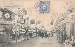 Japon 1906 :  Kobe Une Rue Animée (busy Street ) - Kobe