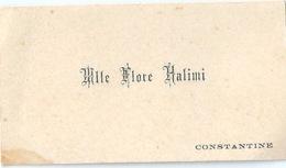 Carte De Visite Mademoiselle FLORE - Cartoncini Da Visita