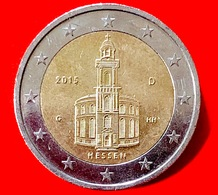 GERMANIA - 2015 - Moneta - Land Di Hessen - Chiesa Di San Paolo A Francoforte - Euro - 2.00 - Germania