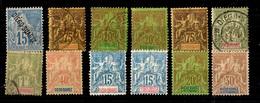 Diégo-Suarez Douze Timbres Anciens 1892/1894. Bonnes Valeurs. B/TB. A Saisir! - Neufs