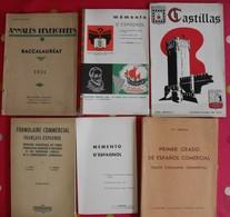 Lot De 6 Livres Livrets Scolaires Ou Autres En Espagnol. Espana. Espagne. Entre 1934 Et 1969 - Autres