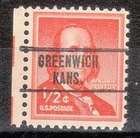 USA Precancel Vorausentwertung Preo, Locals Kansas, Greenwich 748 - Vereinigte Staaten