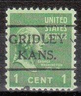 USA Precancel Vorausentwertung Preo, Locals Kansas, Gridley 716 - Vereinigte Staaten